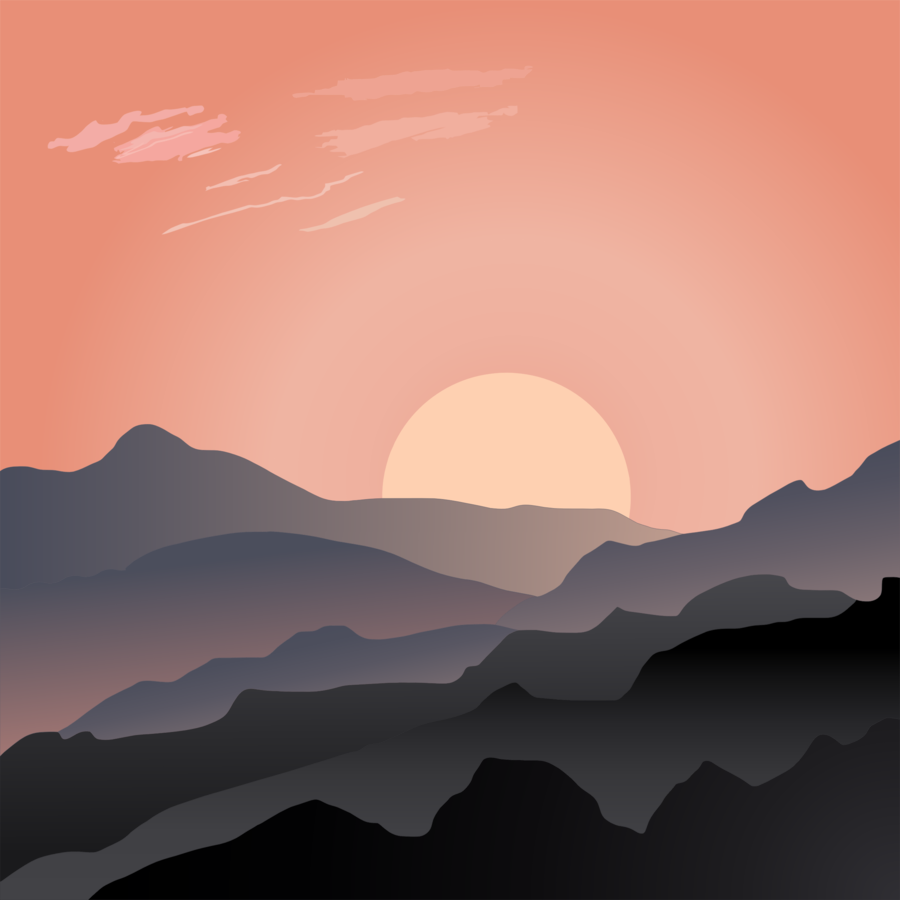 Cloud cartoon graphics . Sunset clipart sunset landscape