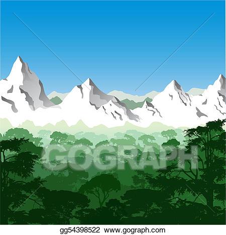 Vector stock illustration . Mountain clipart mountain landscape
