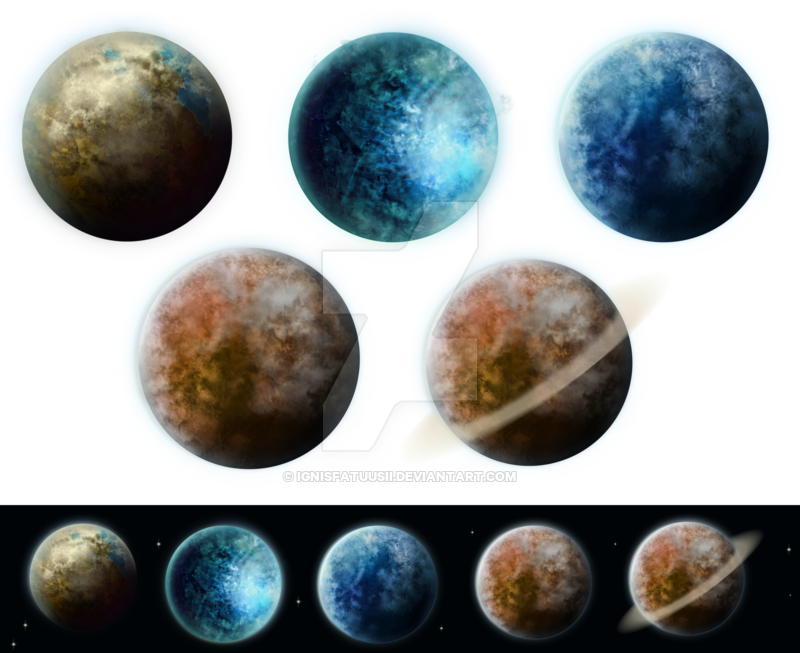 Pack by ignisfatuusii on. Planets clipart real planet