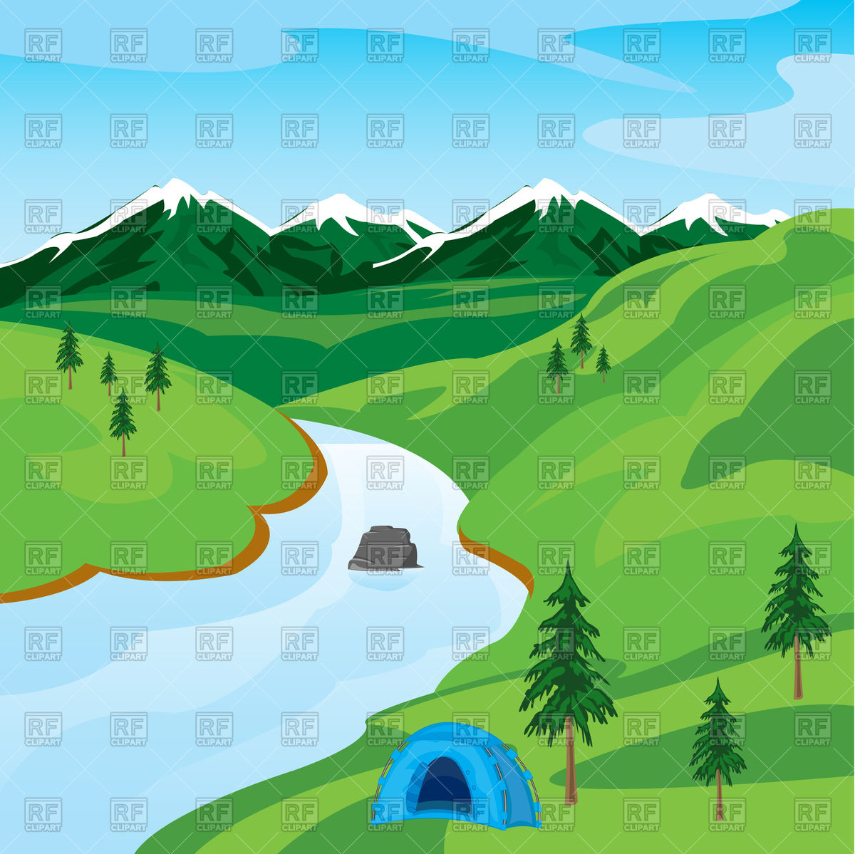 Nature clipart river. Clip art library