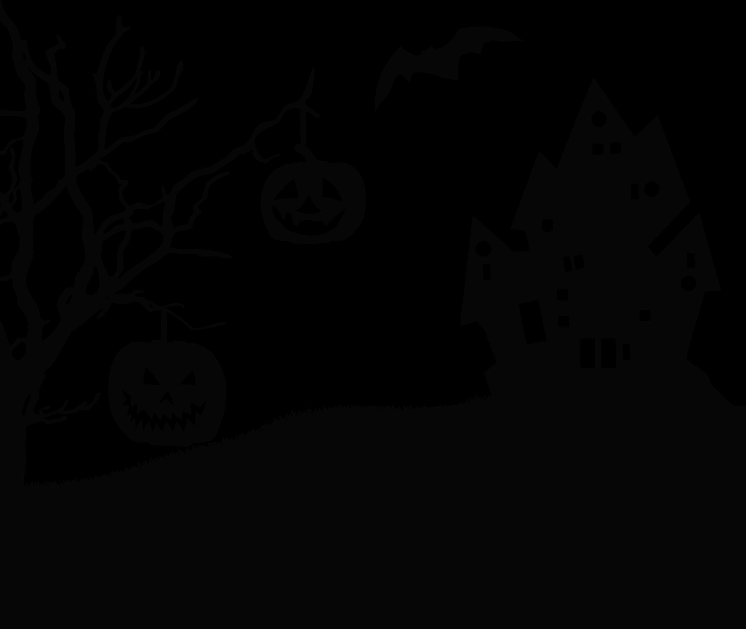 Landscape clipart spooky. Halloween silhouette big image