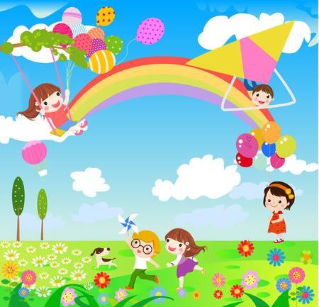 Free download clip art. Landscape clipart spring season
