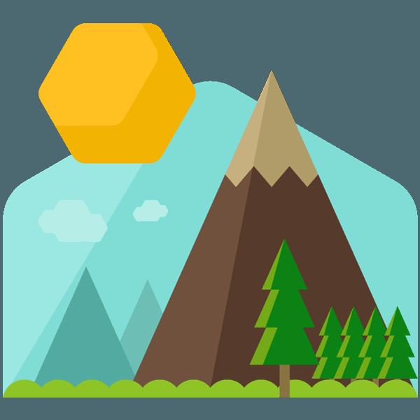 About the great ecourse. Landscape clipart sun mountain
