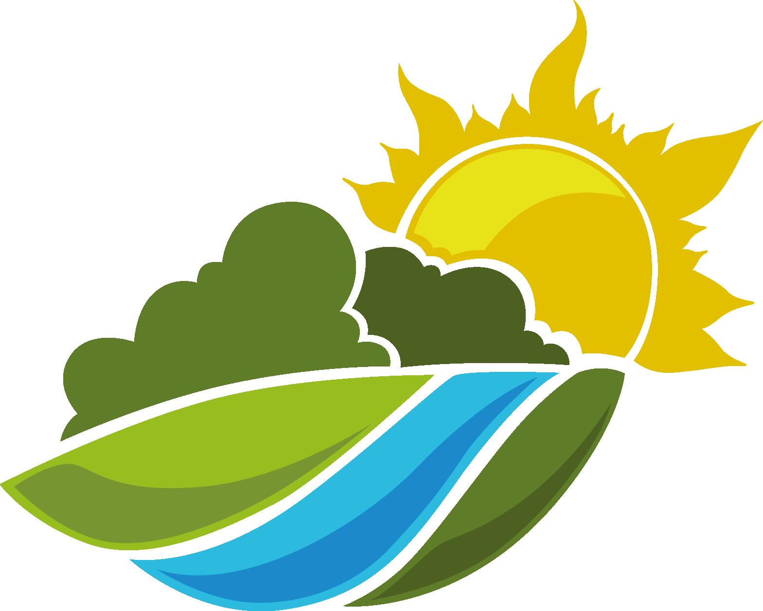 Logo landscaping clip art. Landscape clipart sun mountain
