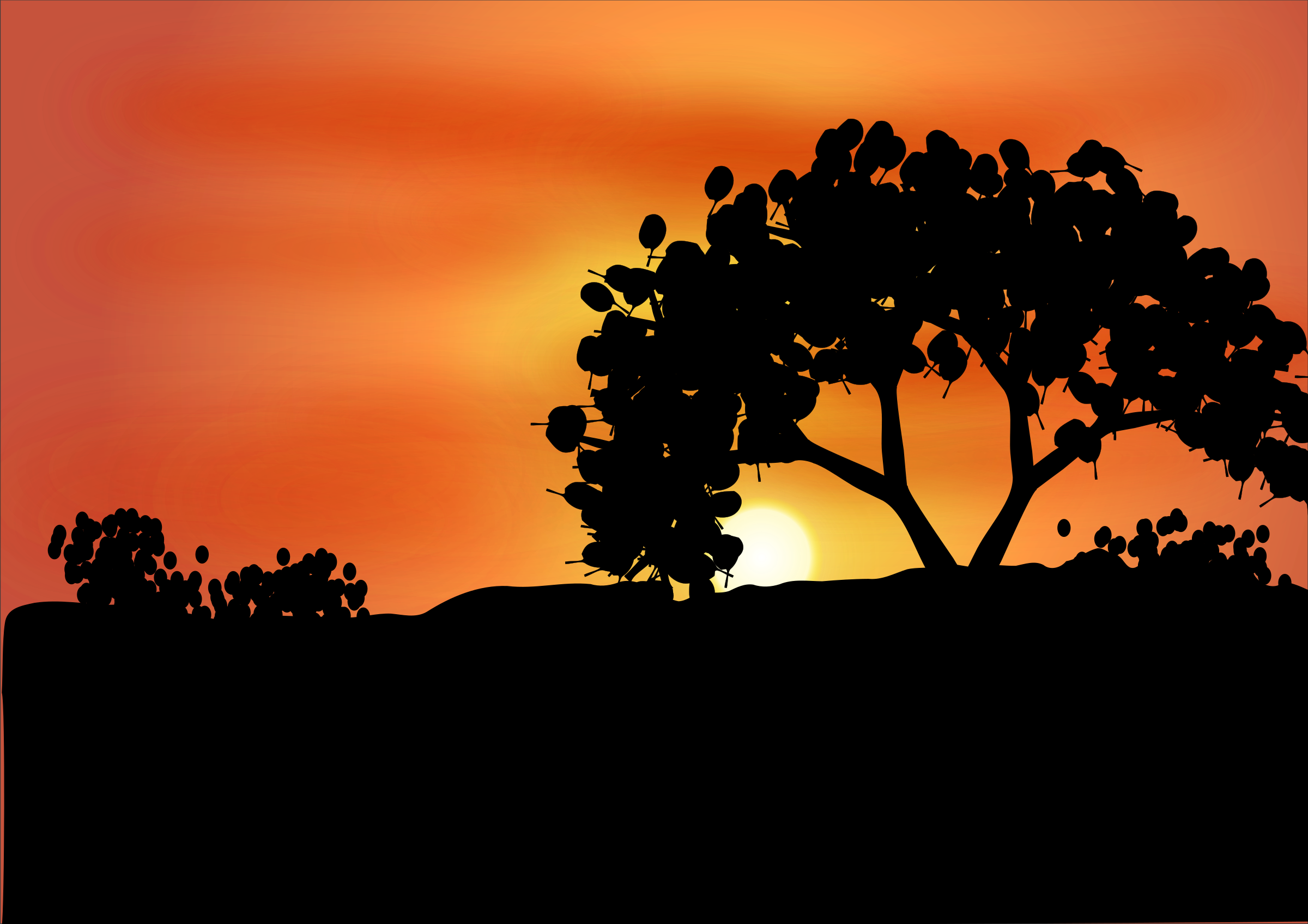 Sunset clipart sunset landscape. Amanecer big image png