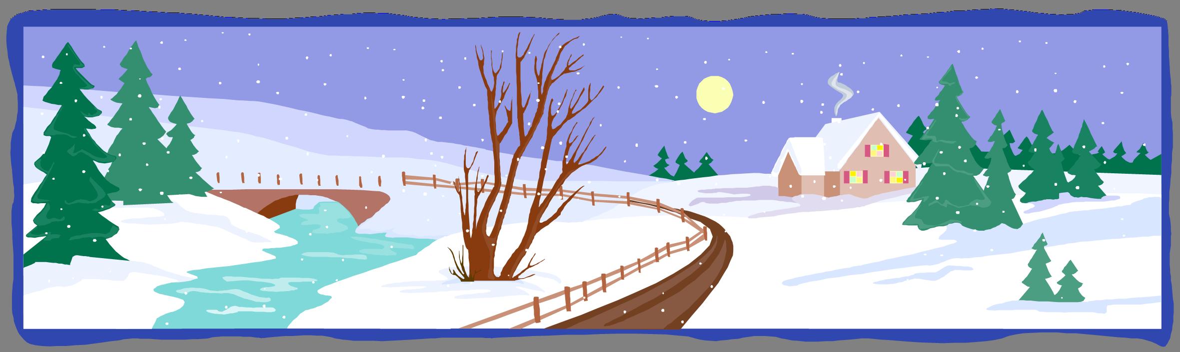 Browsetoknow com seasons. Winter clipart landscape