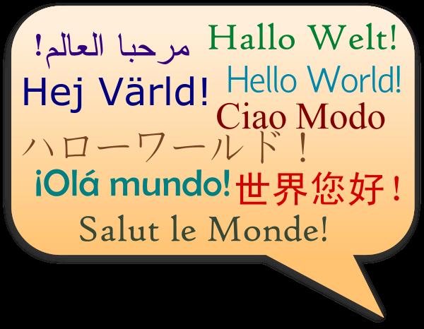 . Language clipart