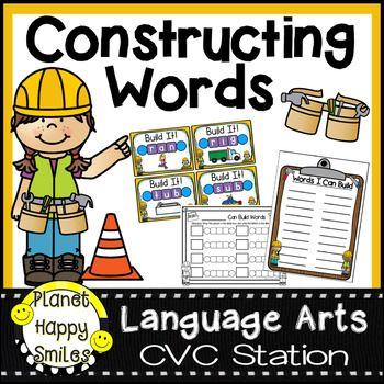 Language clipart building word. Constructing words cvc phonics