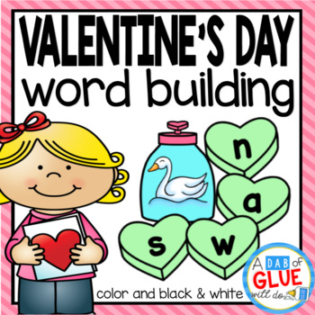 Valentine s day activity. Language clipart building word