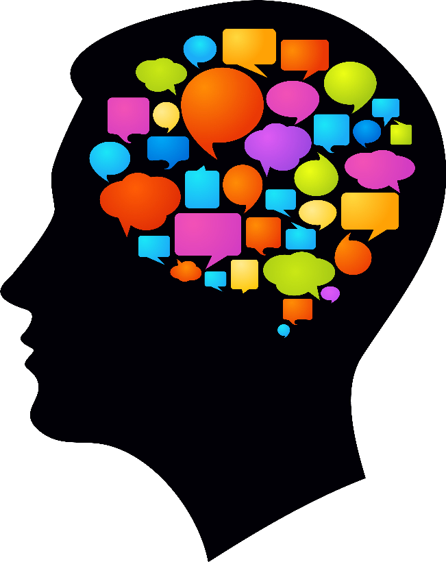 Intrapersonal communication thought mind. Planning clipart job