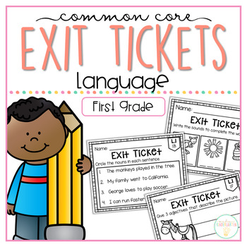 Common core exit tickets. Language clipart first grade student