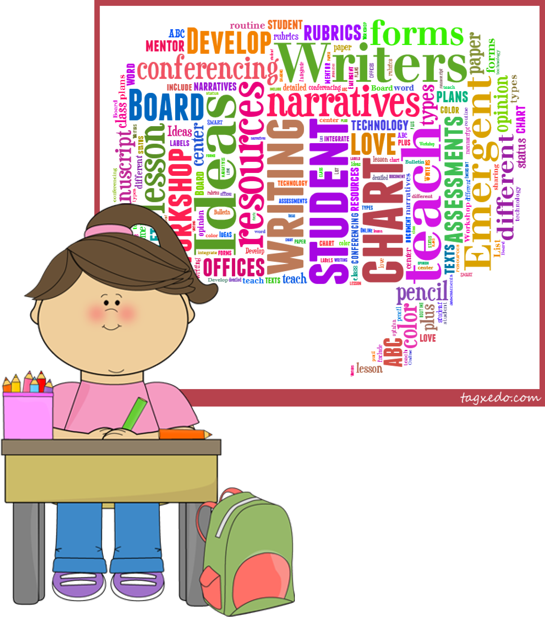 Language clipart first grade student. Writers workshop getting started