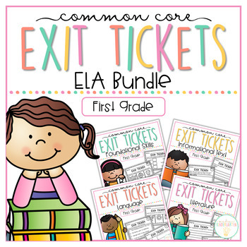 Language clipart first grade student. Common core exit tickets