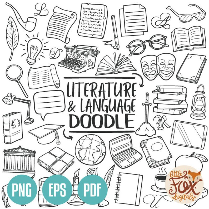 Learning clipart language literature. Vector eps and subject