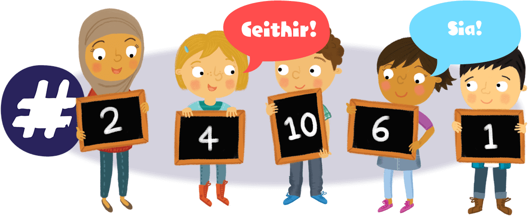 Numbers go gaelic group. Language clipart word bank