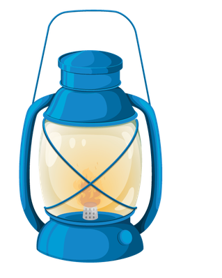 Various objects of camping. Lantern clipart