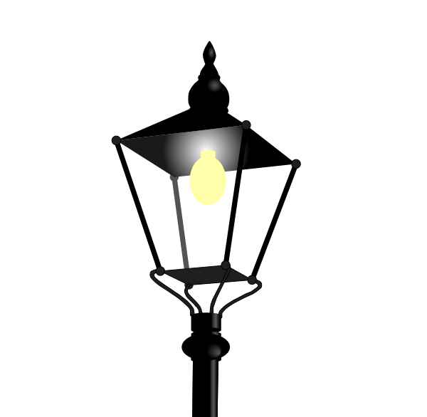 Streetlight clip art at. Lantern clipart candle lantern