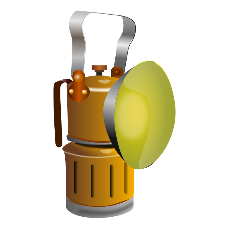 Miners lamp. Lantern clipart mining