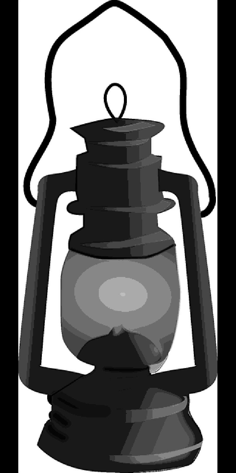 Lantern clipart paraffin lamp. Oil black and white