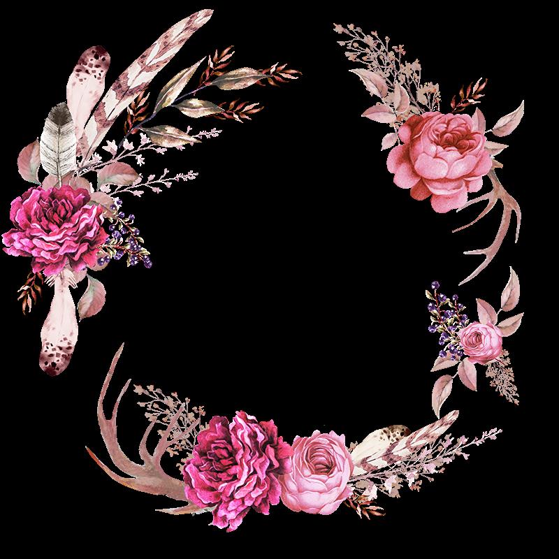 Frames floral em png. Wet clipart flower