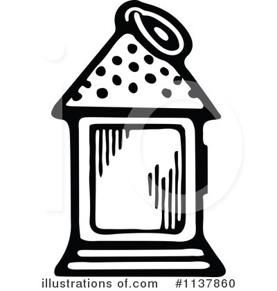 Lantern clipart. Illustration by prawny vintage