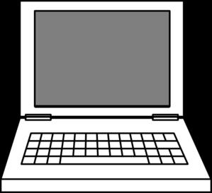 Clip art at clker. Laptop clipart