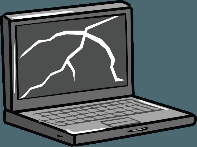Technology clipart broken. Laptop repair nerds on
