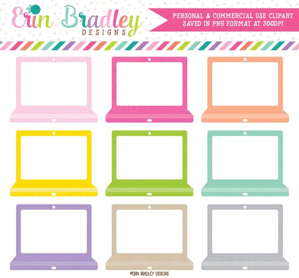 . Laptop clipart colorful