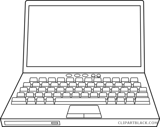 Laptop clipart illustration. Black and white images