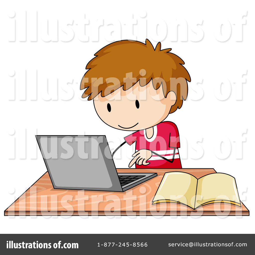 Laptop clipart illustration. By graphics rf