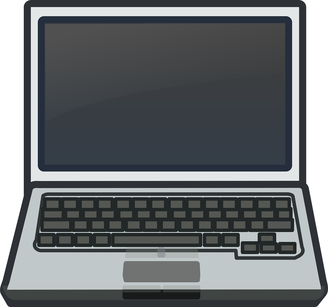 Computer laptop free vector. Pc clipart notebook