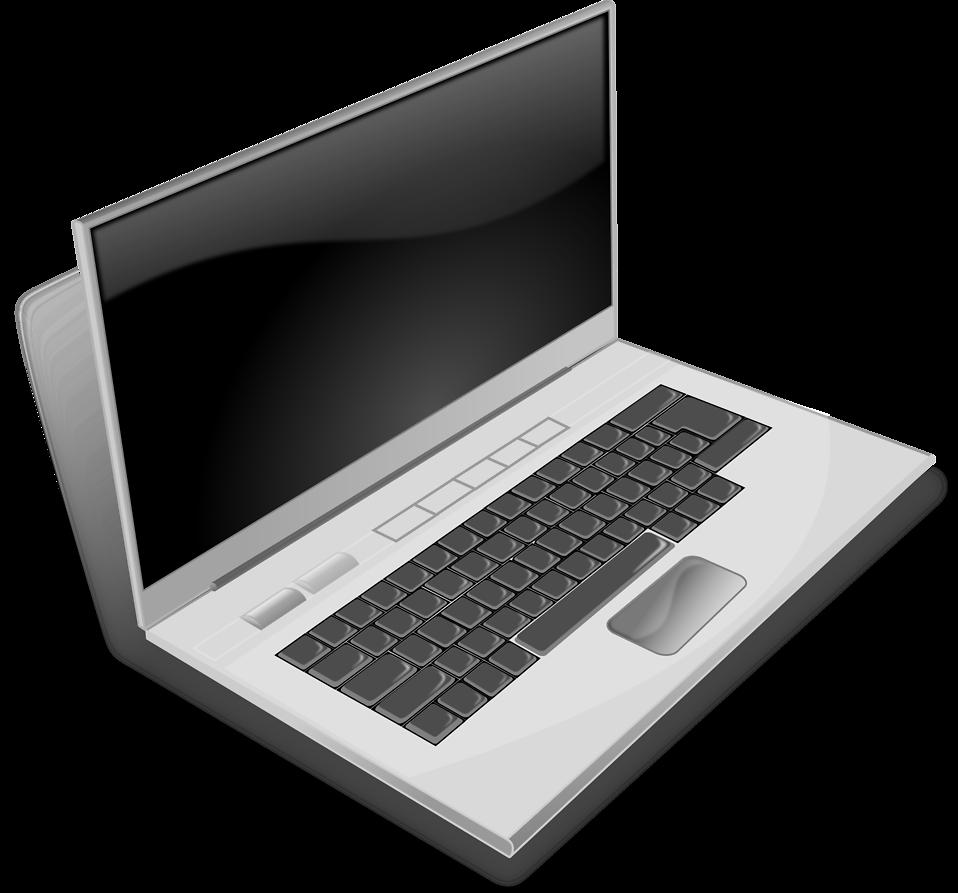 White clipart laptop. Free stock photo illustration