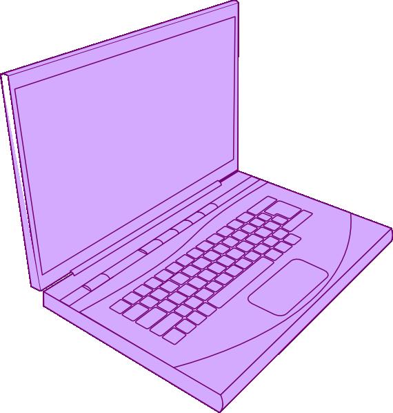 Lavenderlaptop clip art at. Laptop clipart purple