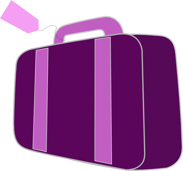 Purple clip art at. Luggage clipart 2 bag
