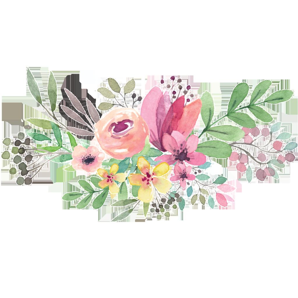 Watercolor peoplepng com. Flower circle png