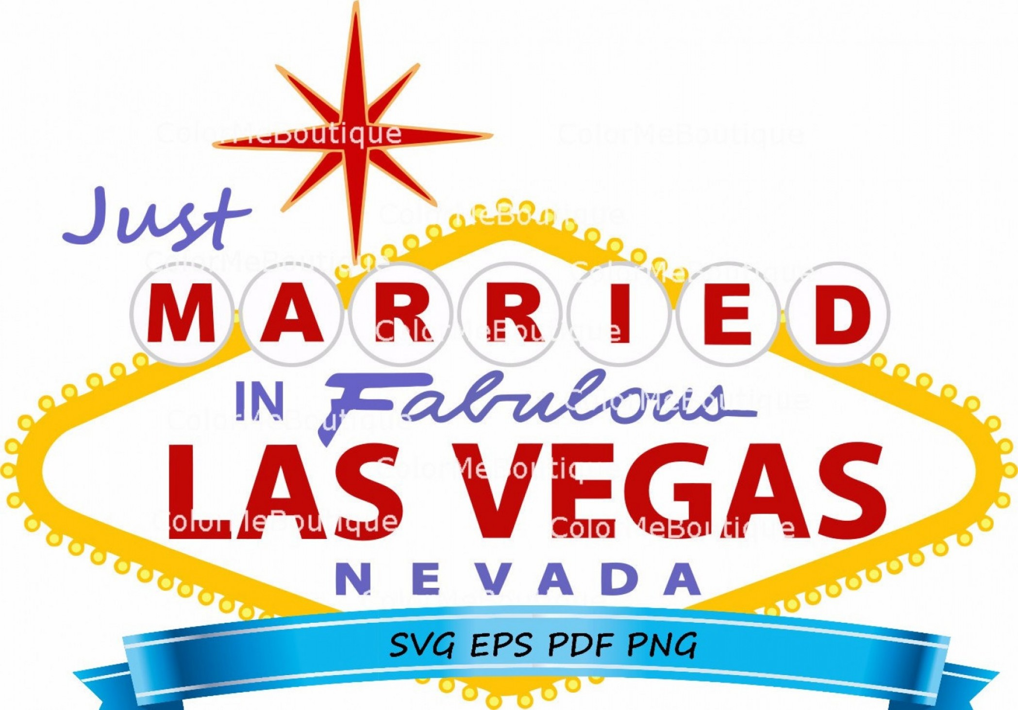 Just married in sign. Las vegas clipart