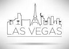 Line drawing of the. Las vegas clipart sketch