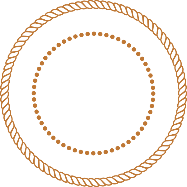 Stamp clipart circle. Brown lasso rope clip