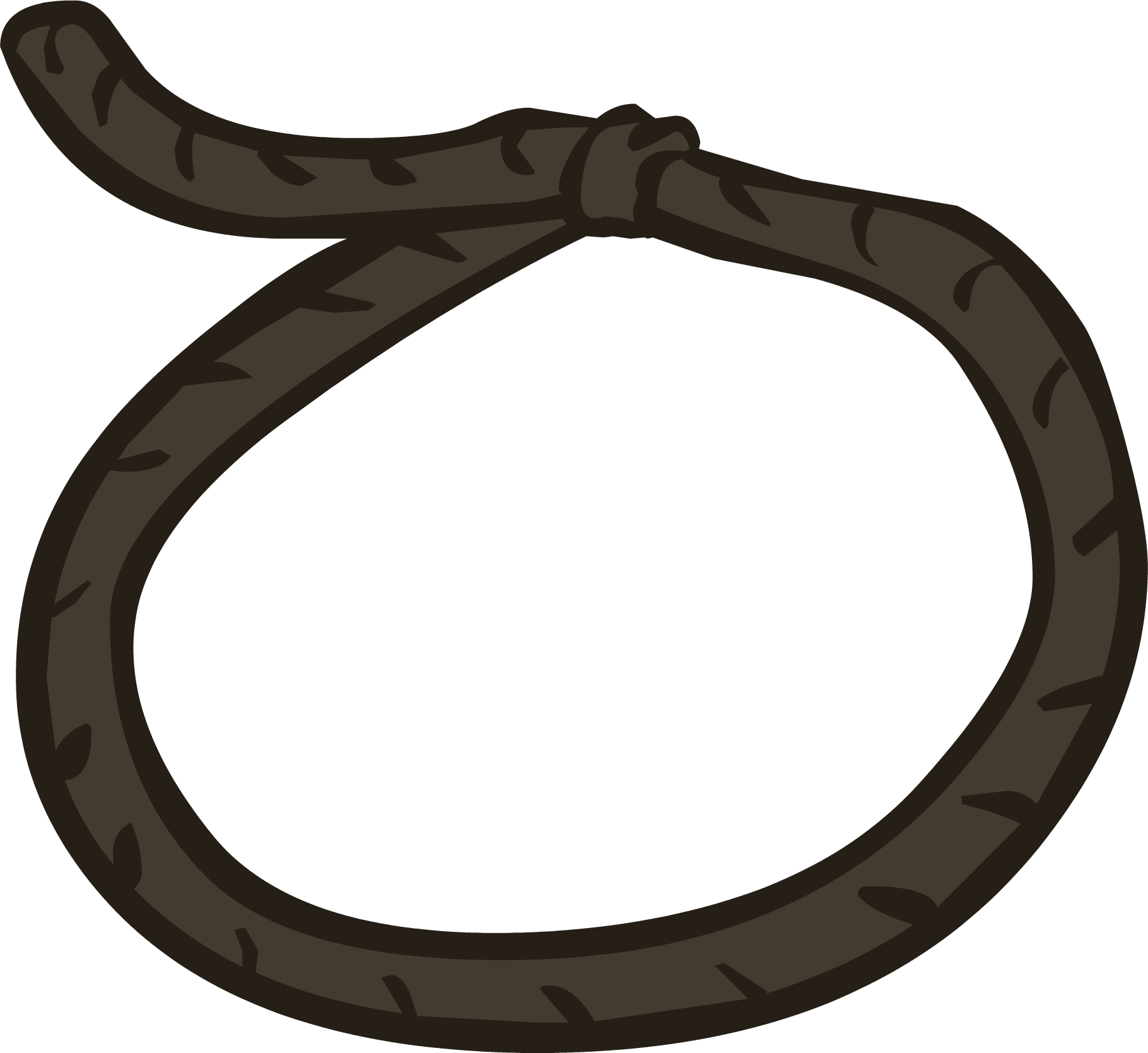 Old west club penguin. Whip clipart lasso
