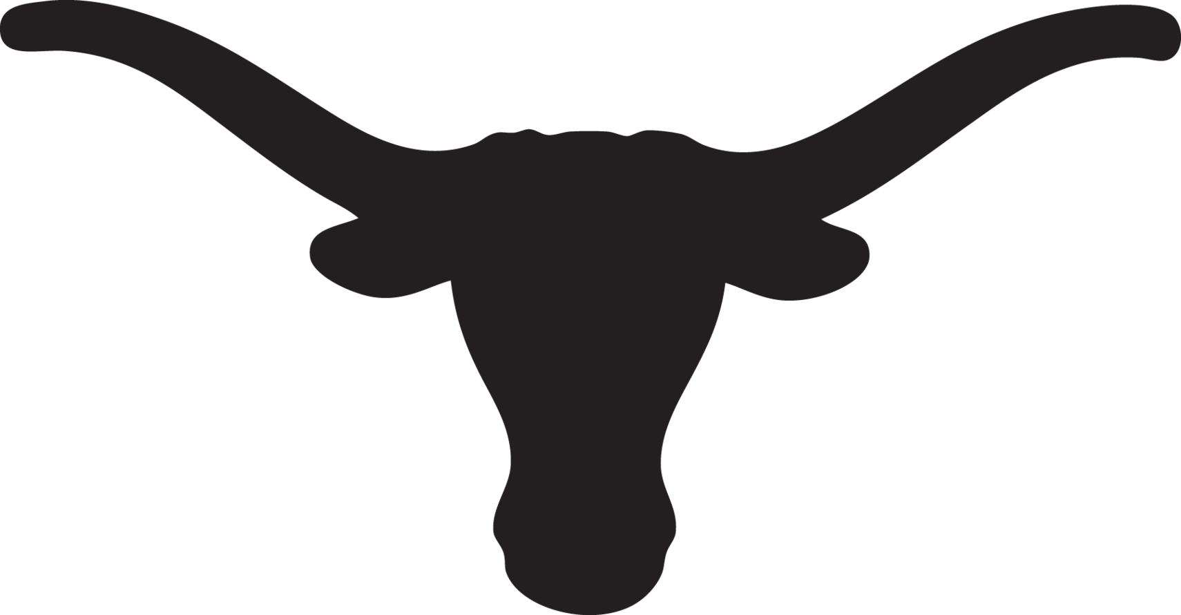 Calf black and white. Longhorn clipart logo