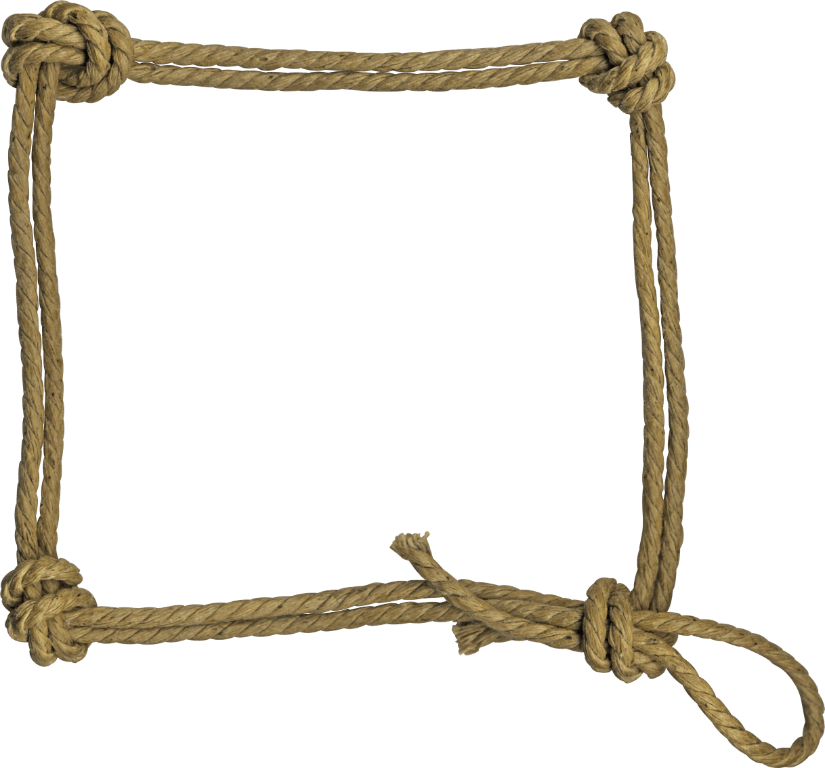 collection of clipart. Rope frame png