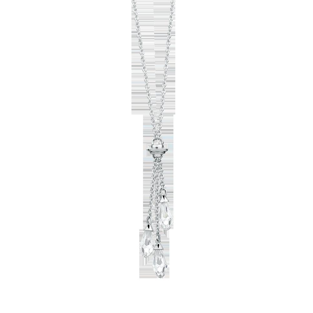 Silver necklace unusual design. Lasso clipart lariat