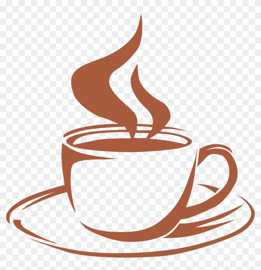 Iced cup with steam. Clipart coffee latte