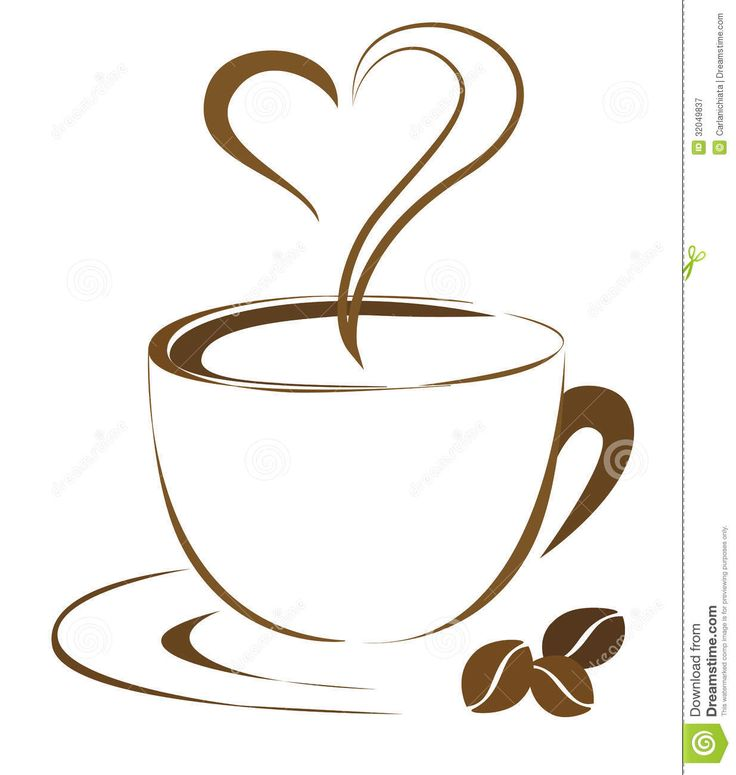 Coffee cups heart cup. Latte clipart