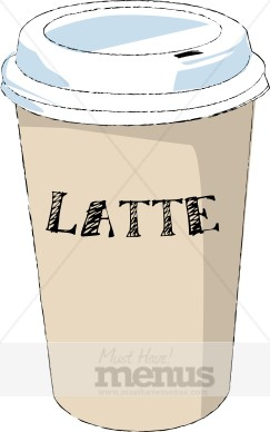Latte clipart. Clip art coffee