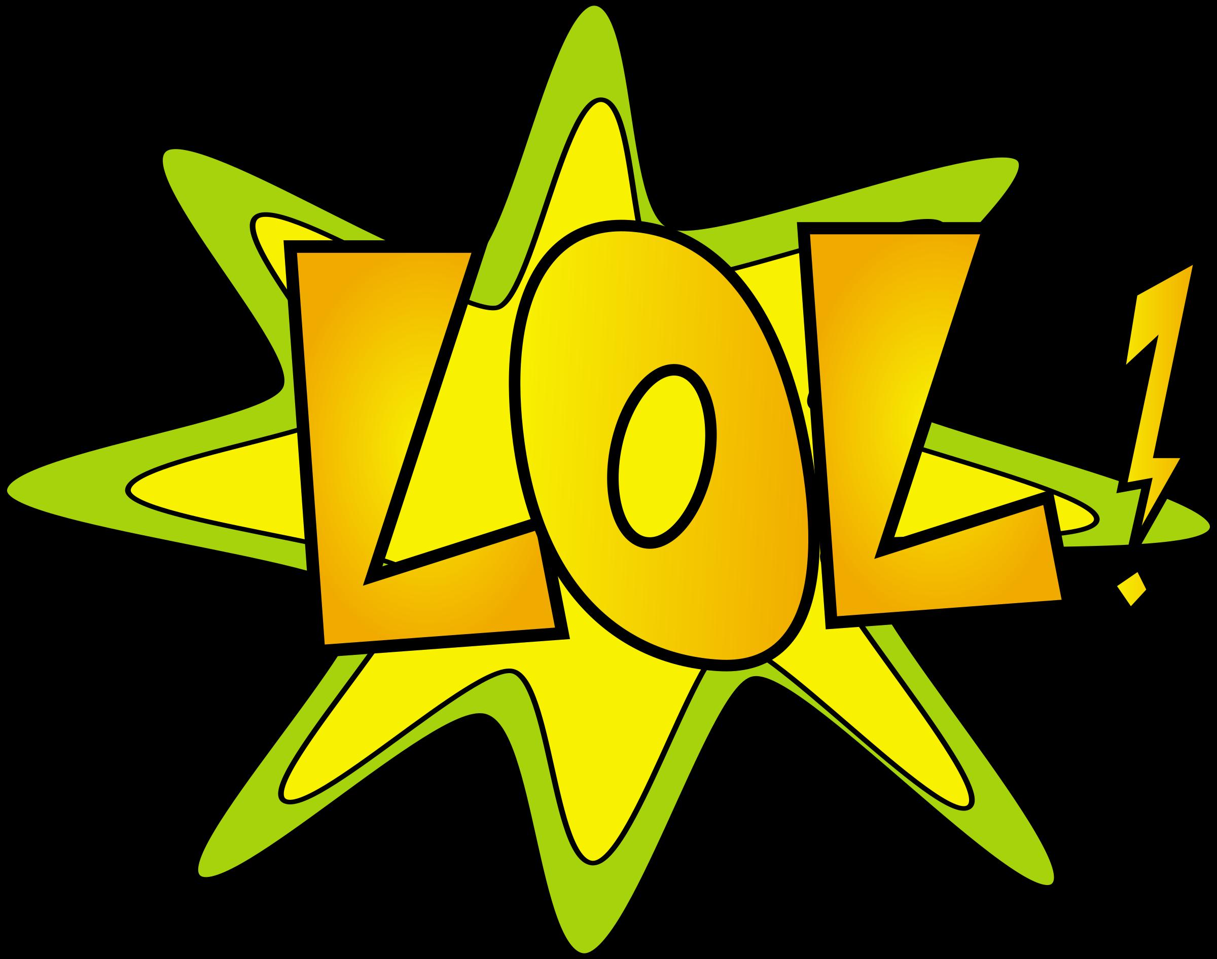 Lol laughing out loud. Surprise clipart symbol