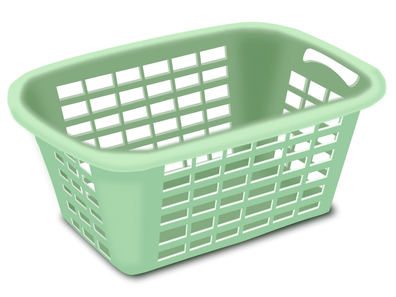 Plastic basket by gubrww. Laundry clipart laundry service