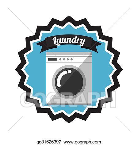 Eps illustration vector . Laundry clipart laundry service