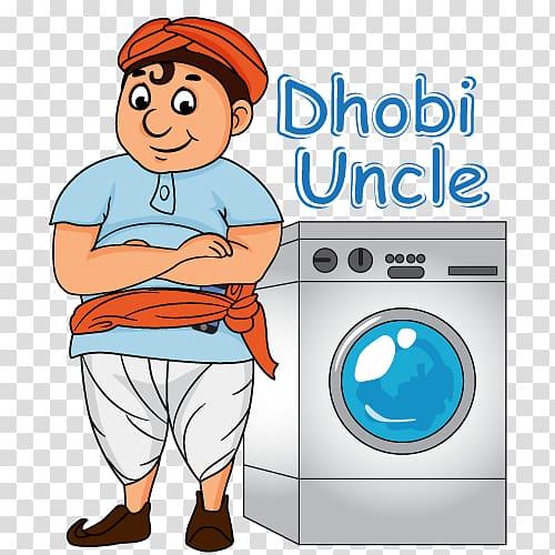 Dhobi cartoon transparent . Laundry clipart laundry service