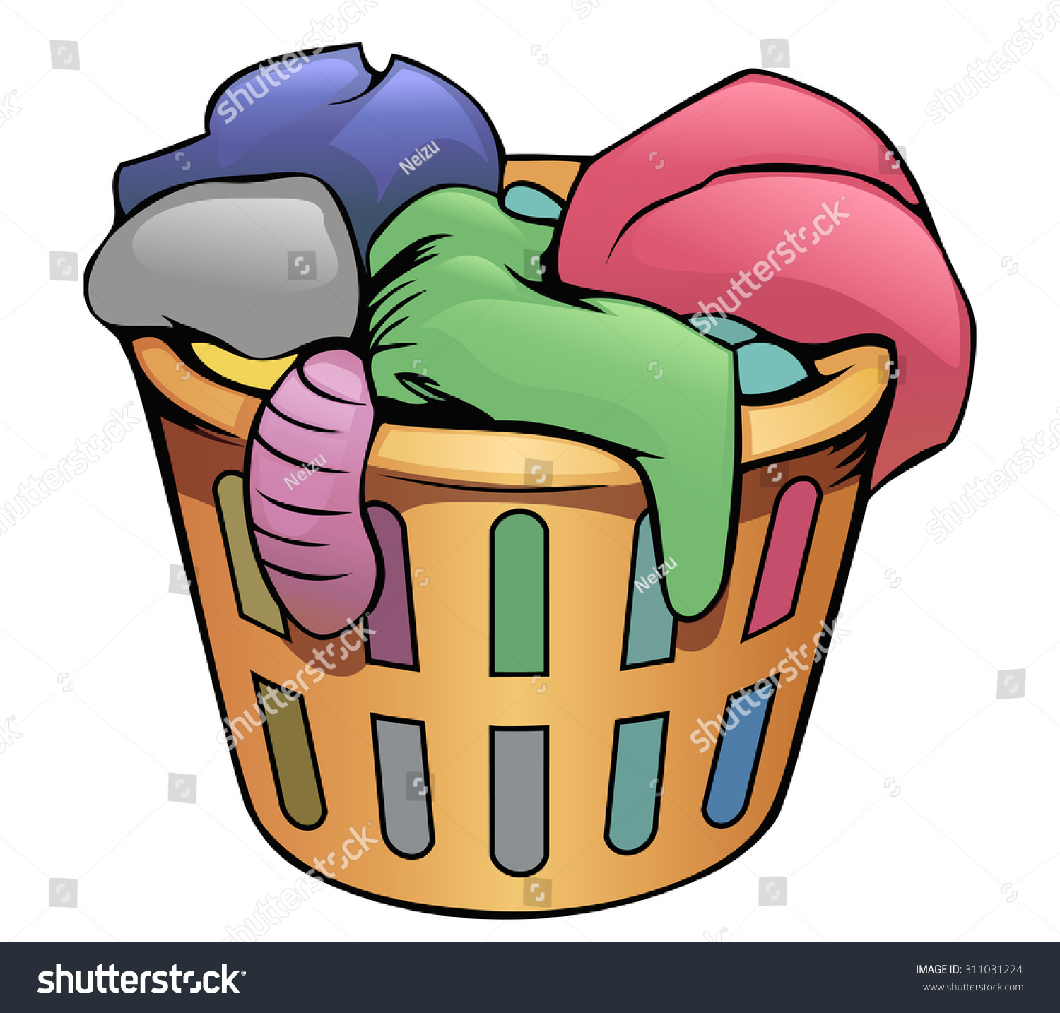 Bag in dirty clip. Laundry clipart soiled clothes